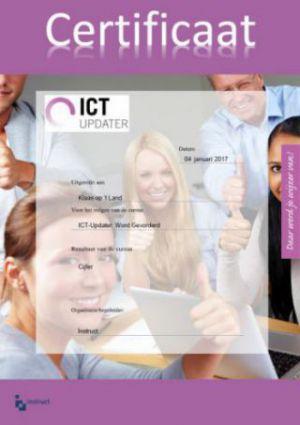 Certificaat ICT-Updater, voor het verbeteren van digitale vaardigheden docenten