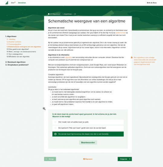 Fundament Informatica nieuwe online omgeving