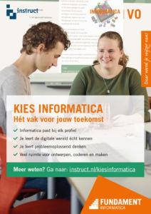 Kies informatica poster, promotiemateriaal informatica