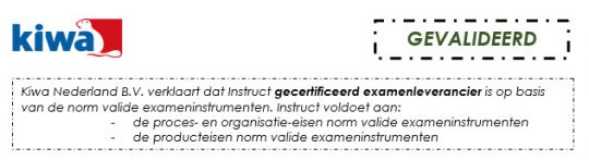 instellingsexamens gevalideerd kiwa