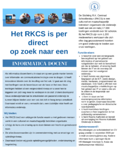 vacature docent informatica