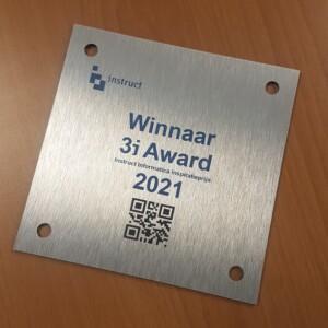 bordje winnaars 3i award 2021