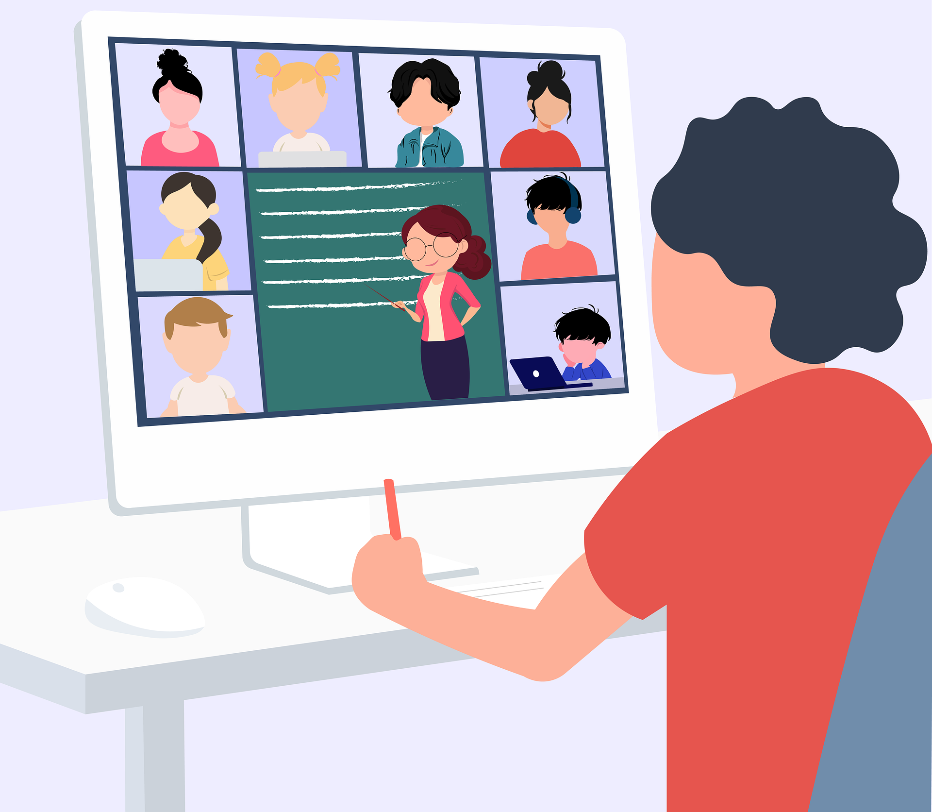 Merendeel docenten klaar om online les te geven